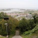 南浜町から日和山への避難JA共済ビル  カンファレンスホール A-E
