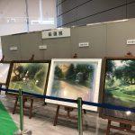 器械展示会場内『絵画展』